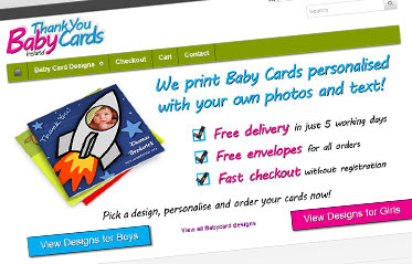 Baby Thank You Cards Ireland